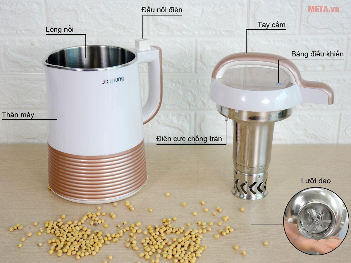 Cấu tạo máy làm sữa đậu nành Joyoung