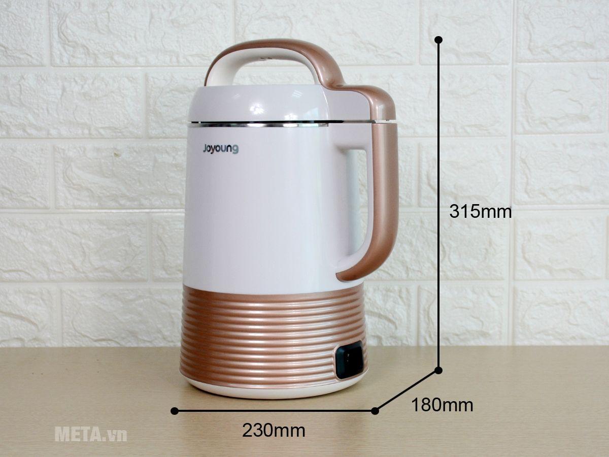 Kích thước máy làm sữa đậu nành Joyoung DJ13C-Q3.