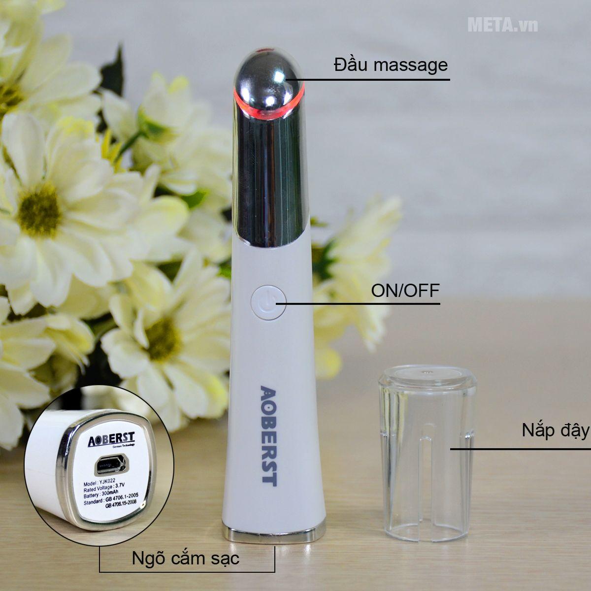 Cấu tạo máy massage mắt Aoberst