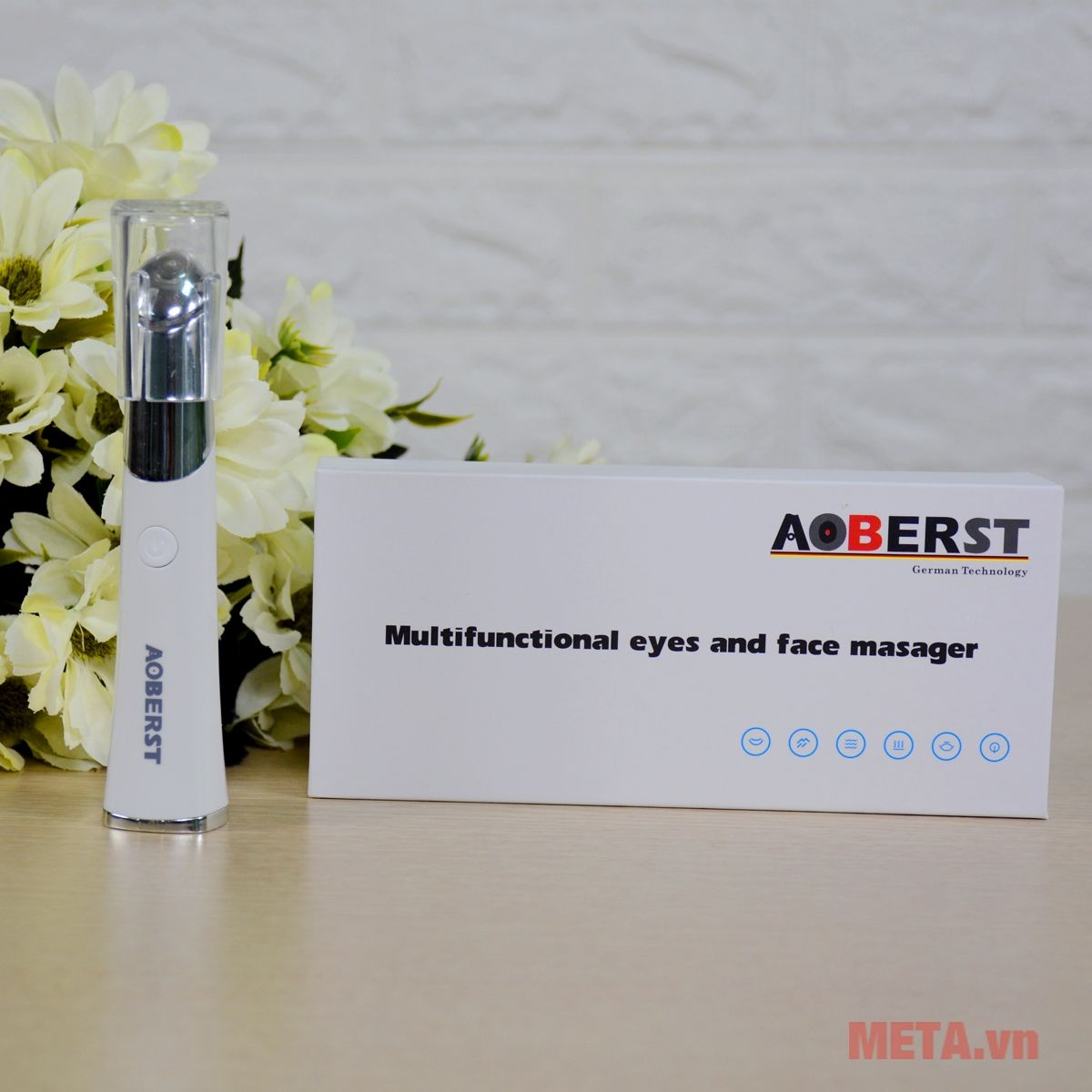 Máy massage mắt Aoberst giúp giảm quầng thâm mắt