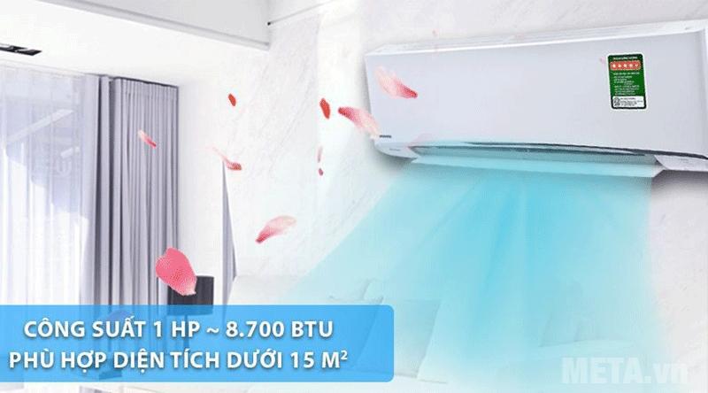Máy lạnh phù hợp với diện tích 15m2