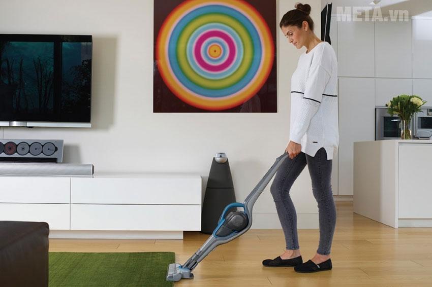 Nhà cửa sạch sẽ khi sử dụng máy hút bụi