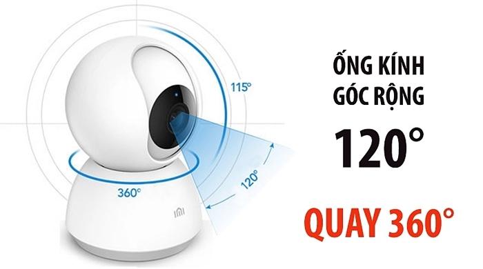 Camera Xiaomi góc xoay linh hoạt rộng 360 độ