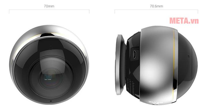 Kích thước Camera Ezviz CS-CV346-A0-7A3WFR Mini Pano