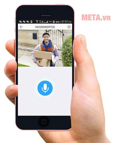 Camera Ezviz kết nối điện thoại, tương tác đàm thoại 2 chiều