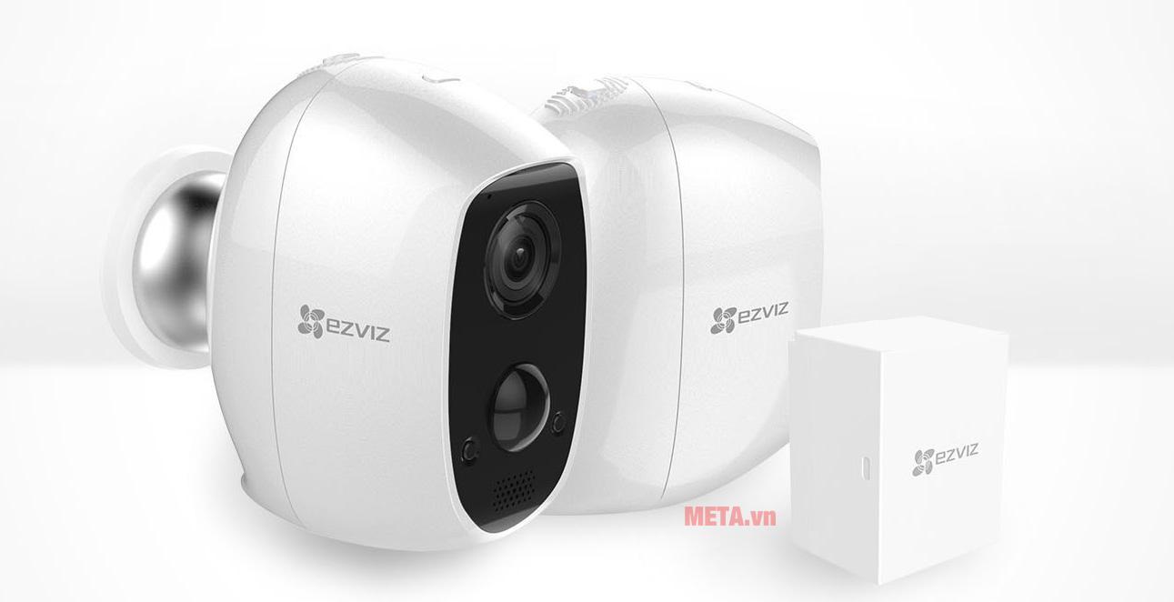 Hình ảnh camera Ezviz CS-C3A-A0-1C2WPMFBR không dây dùng pin sạc