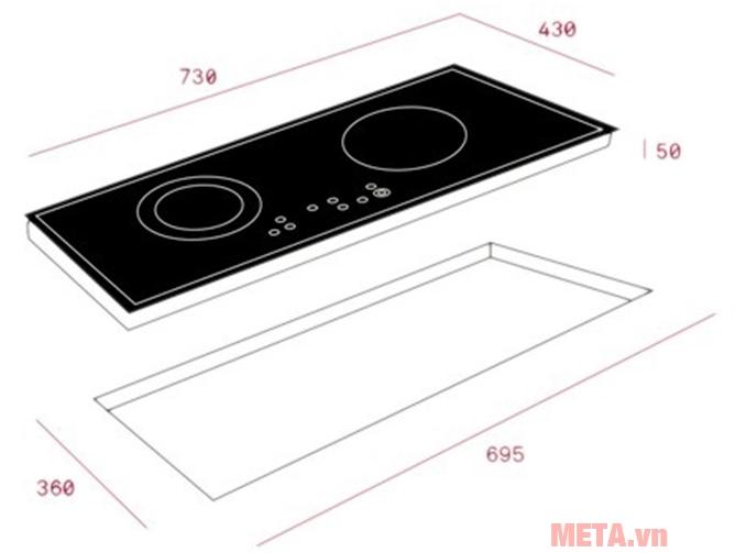 Lắp đặt bếp điện từ âm Teka IZ 7200 HL