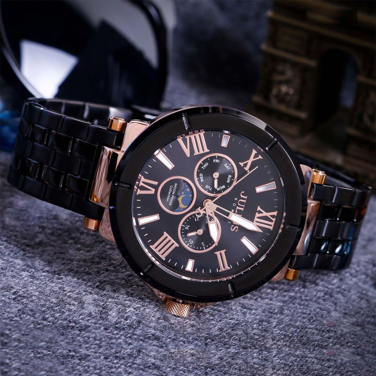 đồng hồ nam Julius 6 kim JAH-102