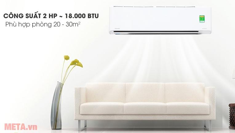 Máy lạnh có công suất 18.000BTU