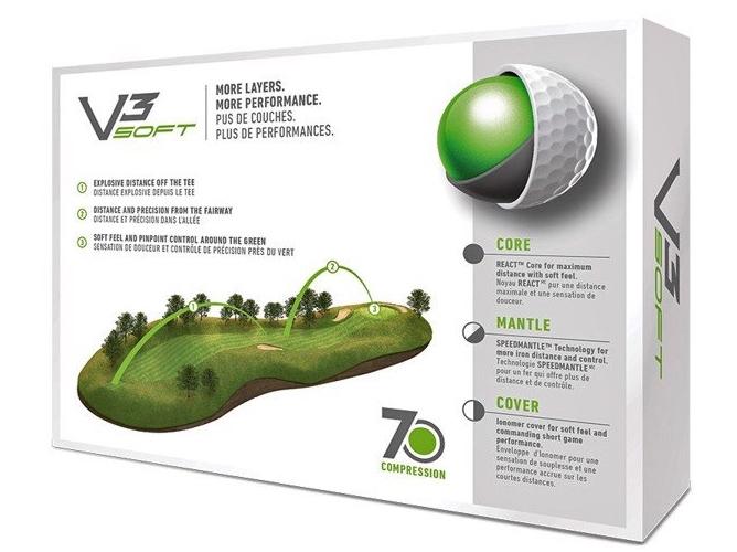 Bóng golf Taylormade V3 Soft