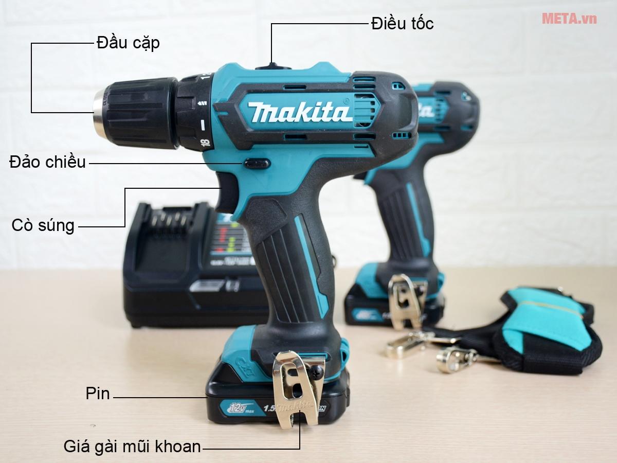Cấu tạo máy khoan Makita DF331DZ