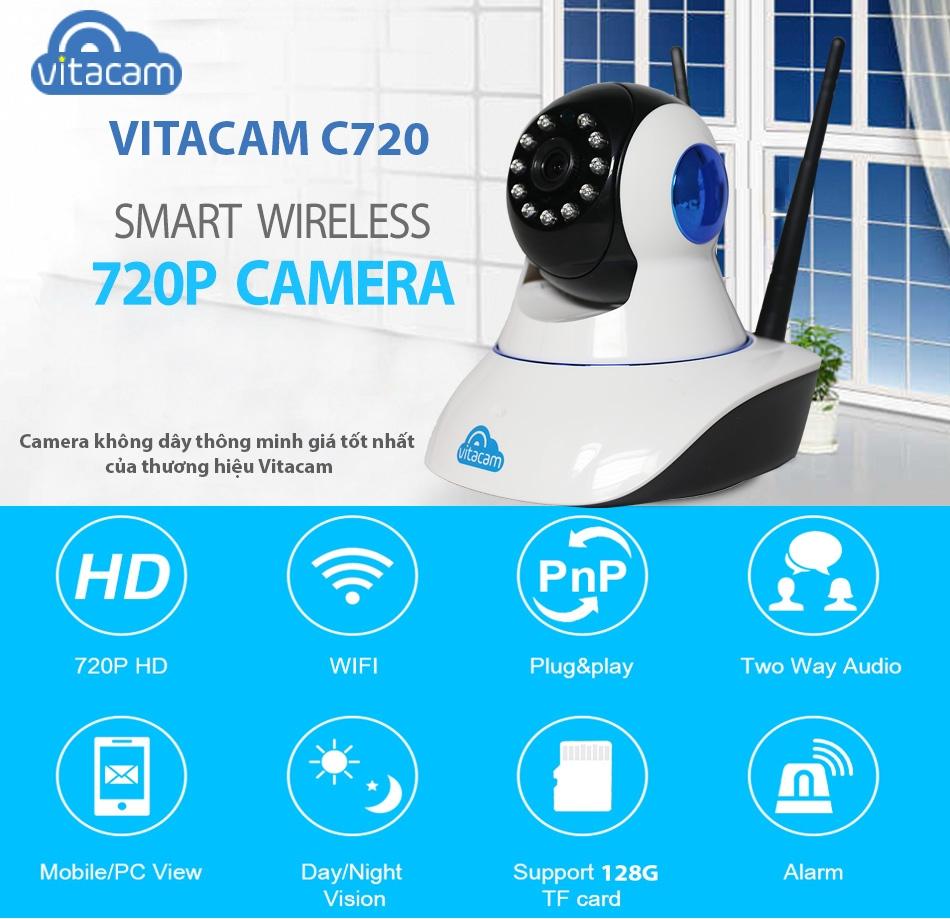 Các tính năng đặc biệt cửa camera không dây Vitacam C720