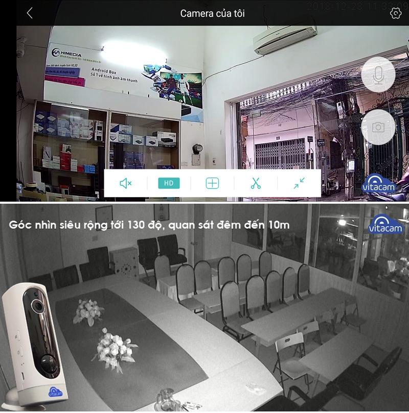Hình ảnh thu được từ camera Vitacam BA1080 2.0MP