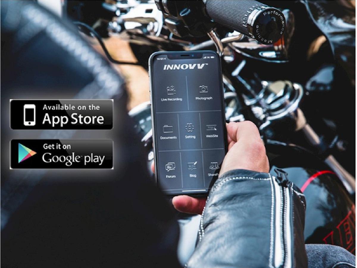 Camera hành trình Vietmap Innovv C5 kết nối ứng dụng trên điện thoại