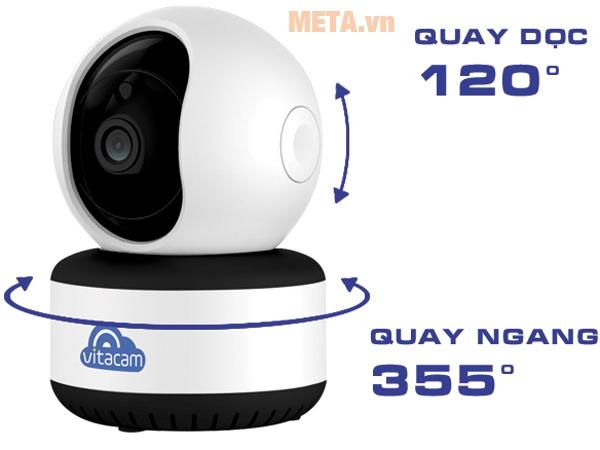 Camera Vitacam C1080 xoay linh hoạt, tầm quan sát rộng