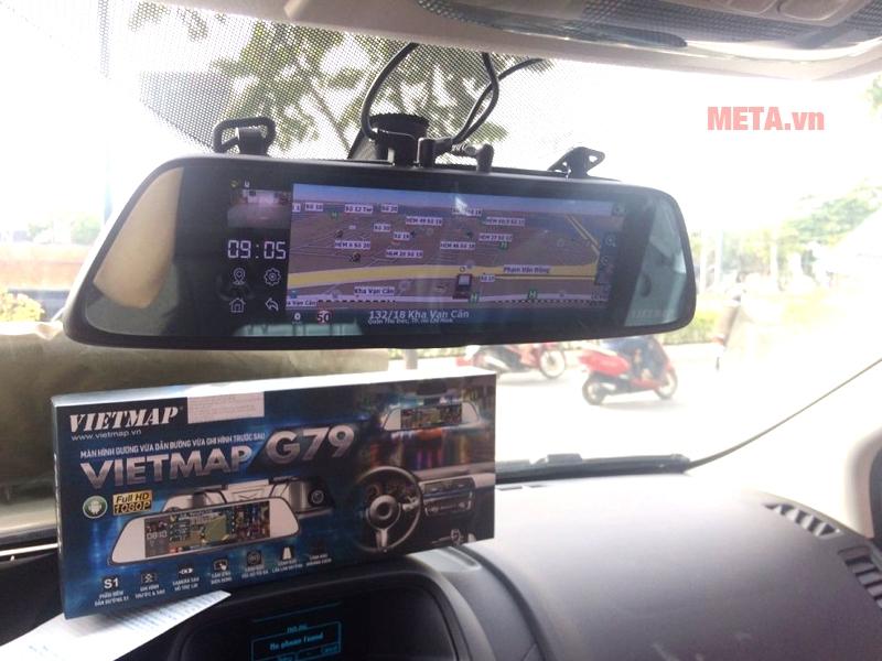 Hình ảnh thực tế trên xe của Vietmap G79