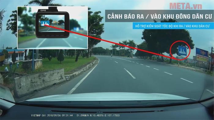 Camera hành trình Vietmap hỗ trợ nhận diện biển báo. Các biển báo thường xuyên được cập nhật