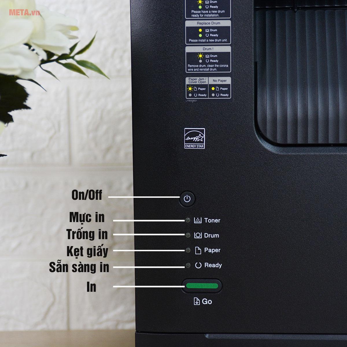 Đèn báo trên máy in