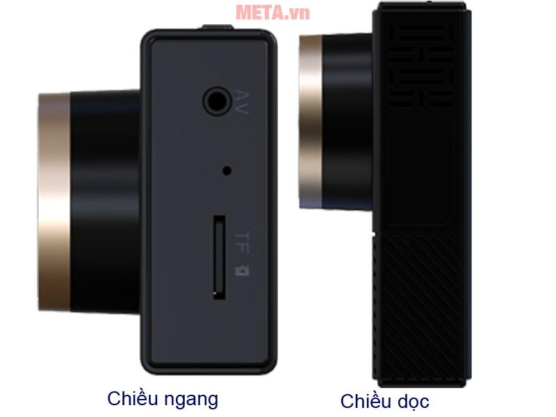 Camera hành trình VietMap C6 hình ảnh theo chiều ngang và chiều dọc