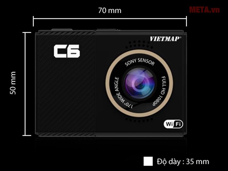Kích thước thật của camera hành trình VietMap C6