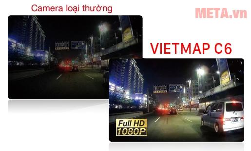 Camera VietMap C6 quan sát rõ ngày đêm