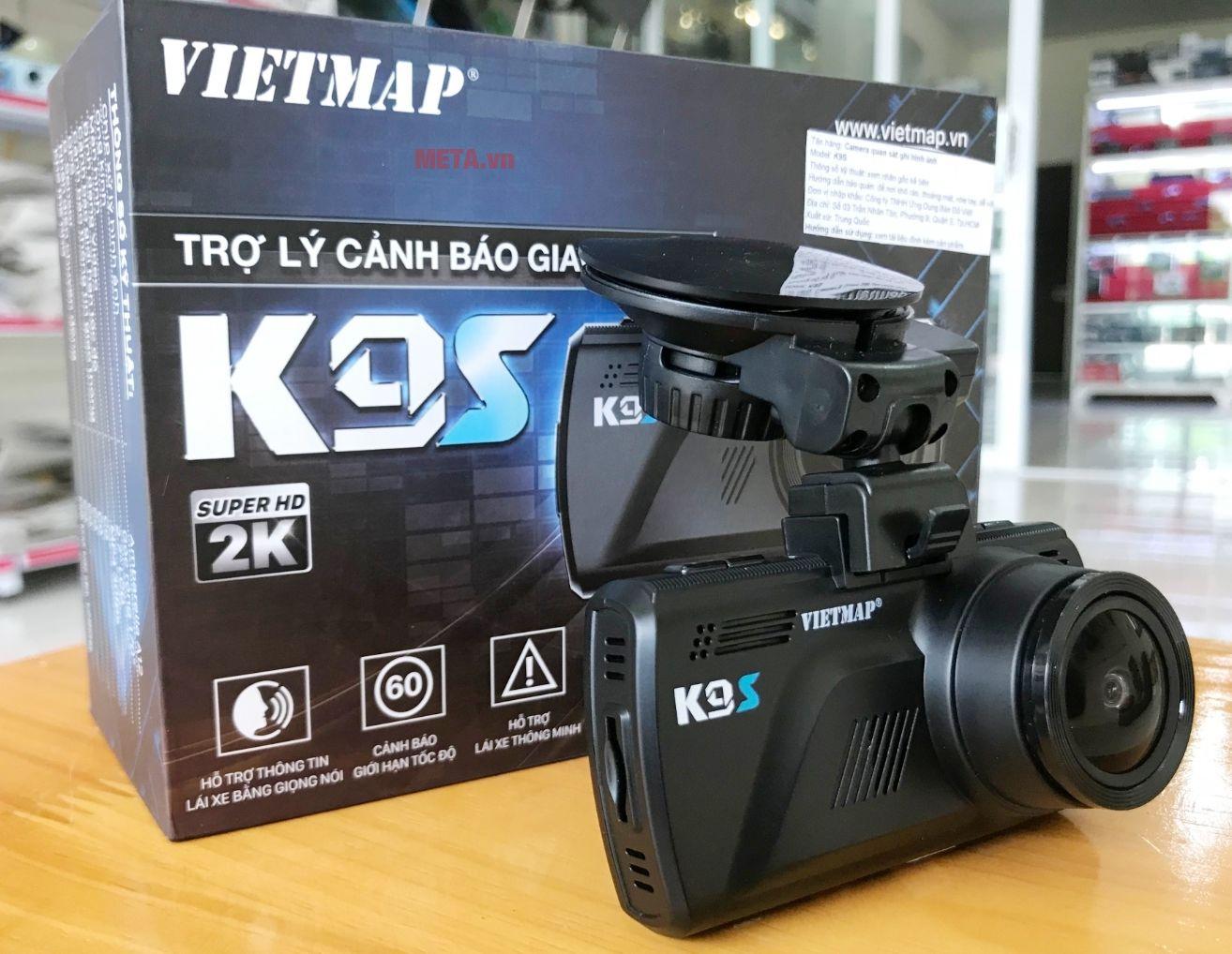 Hình ảnh cùng vỏ ngoài camera hành trình Vietmap K9S