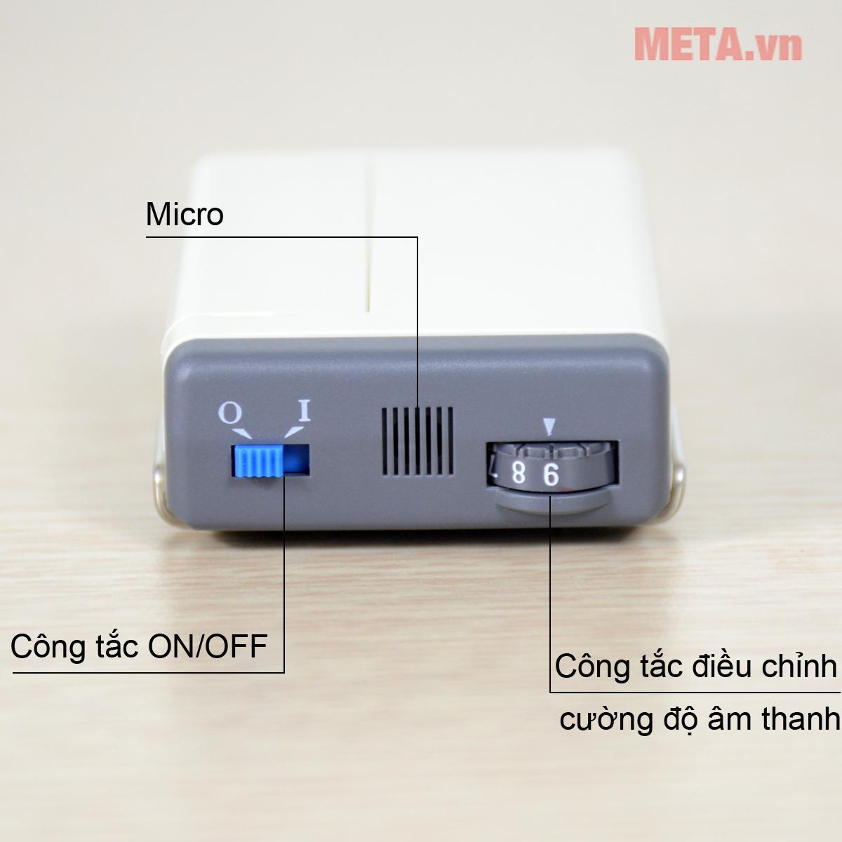 Bảng điều khiển máy trợ thính dây đeo Rionet HA-20Dx