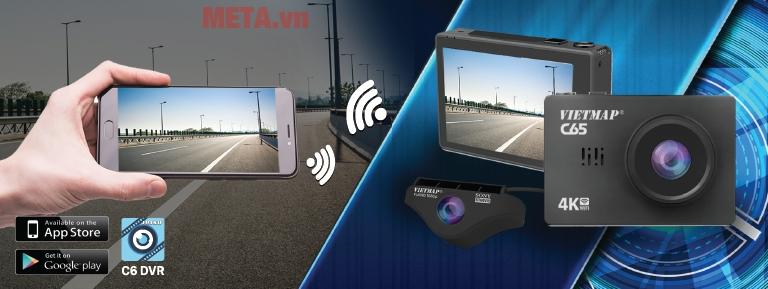 Camera Vietmap C65 hỗ trợ kết nối wifi không dây, dễ dàng truyền hình ảnh từ xa
