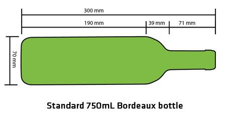 Kích thước chuẩn của chai rượu dung tích 750ml