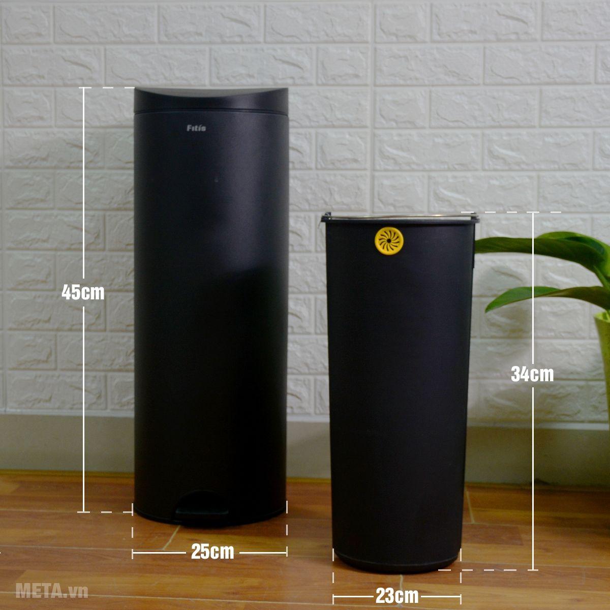 Kích thước thùng rác Fitis RPL1-903