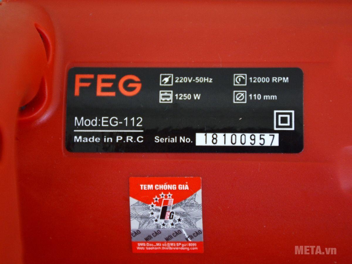 Máy cắt gạch FEG tại META có tem chống giả