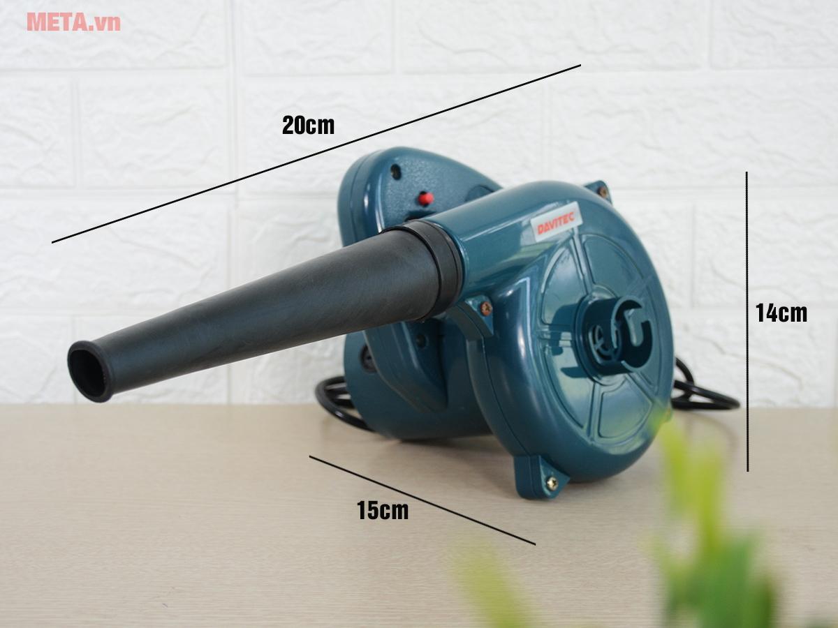 Kích thước máy thổi bụi
