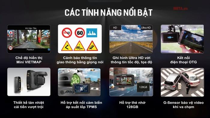 Các tính năng cơ bản của camera VietMap Papago 51G