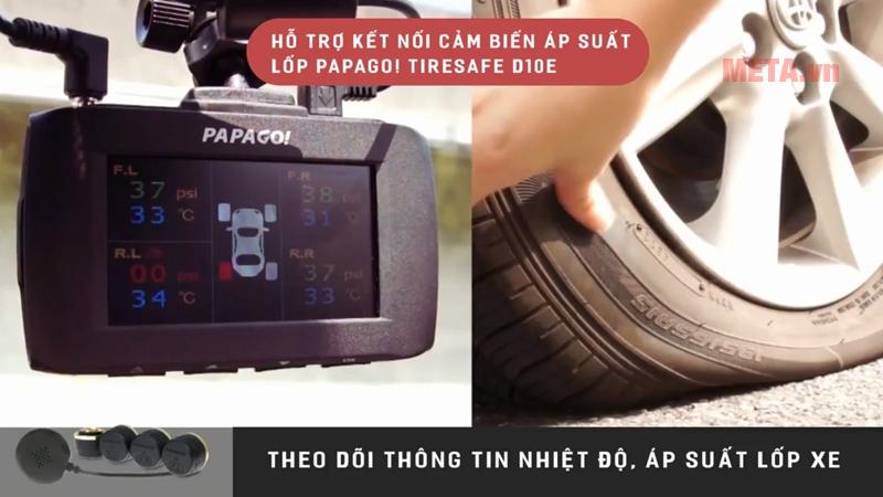 Camera hành trình Vietmap Papago 51G hỗ trợ kết nối cảm biến áp suất lốp