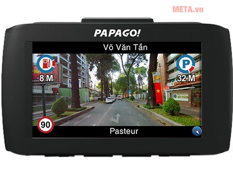 Camera phía trước VietMap Papago 51G có chức năng dẫn đường