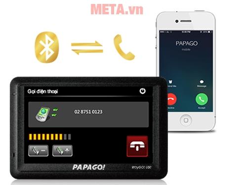 Thiết bị định vị GPS Papago Waygo 500 kết nối bluetooth, nhận cuộc gọi dễ dàng