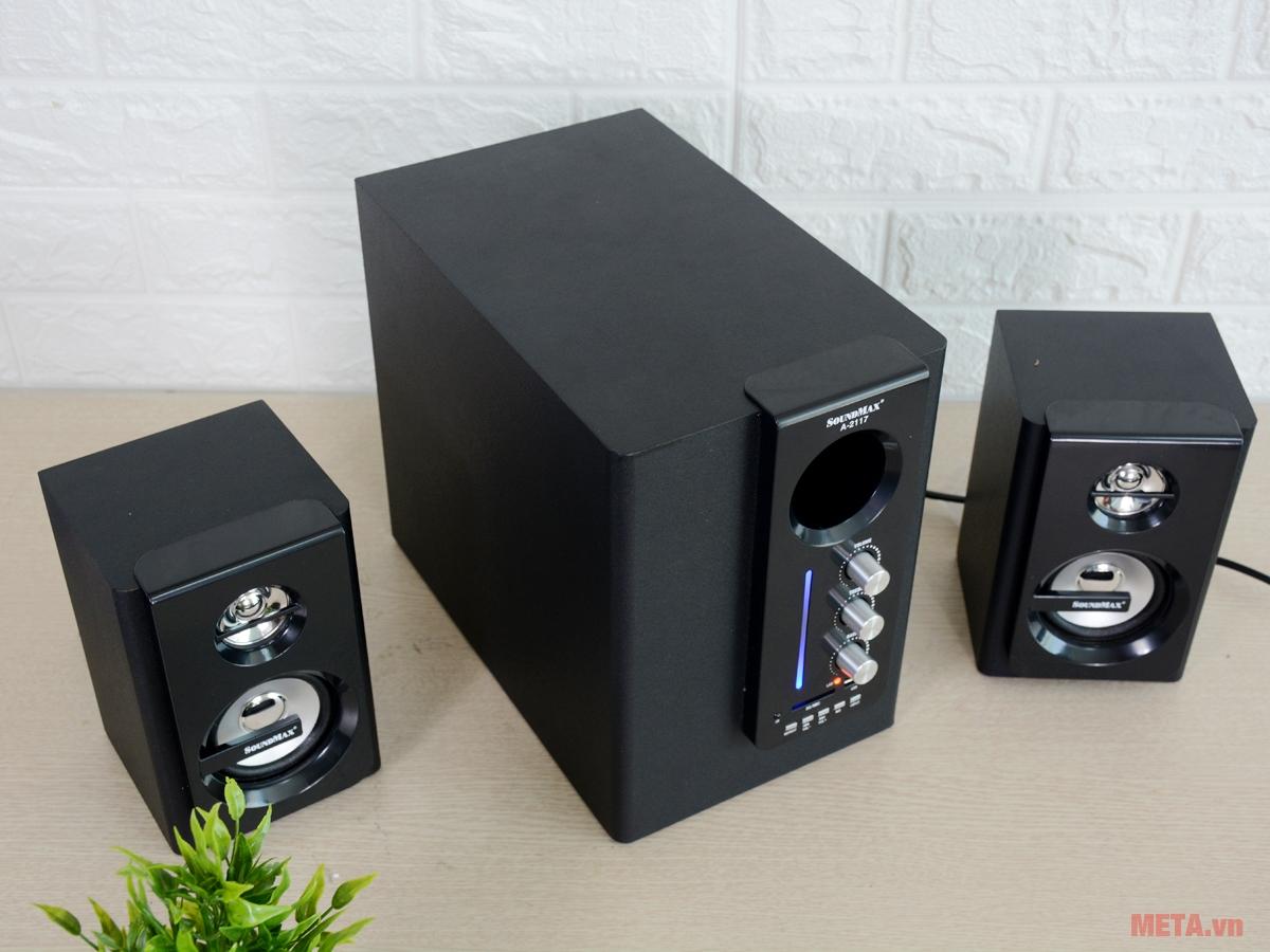 Loa SoundMax A2117 2.1 sở hữu thiết kế ấn tượng