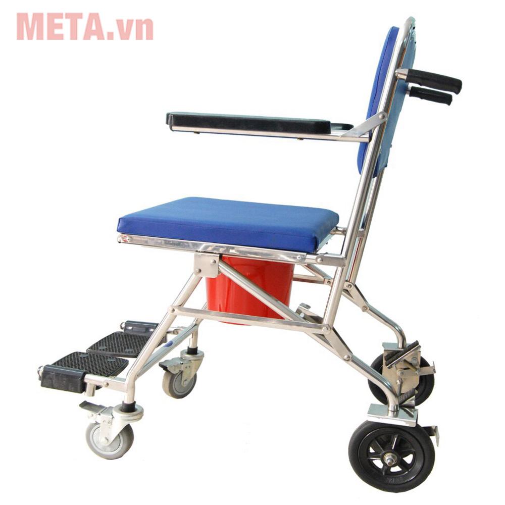 Ghế vệ sinh inox có bánh xe