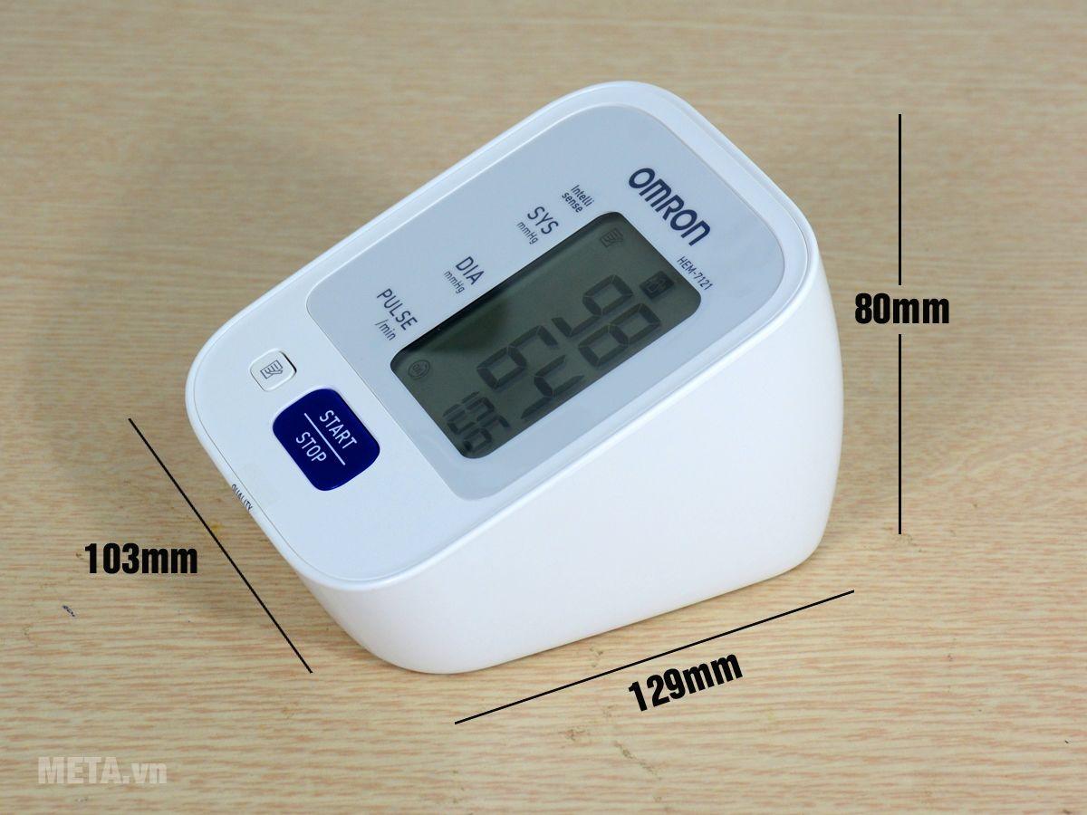 Kích thước máy đo huyết áp bắp tay tự động Omron HEM-7121