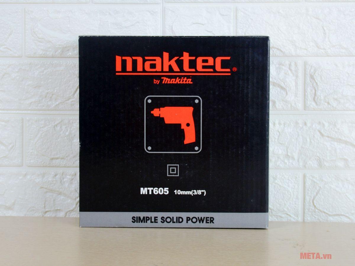 Máy khoan tốc độ cao Maktec MT605 hoạt động ổn định và trơn tru.