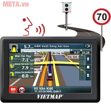 Thiết bị dẫn đường Vietmap B50 cảnh báo giao thông bằng giọng nói