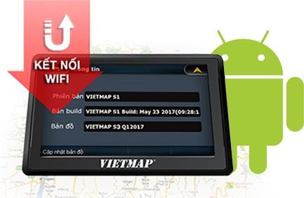Thiết bị dẫn đường Vietmap B50 hỗ trợ kết nối wifi, cập nhật thông tin giao thông chính xác
