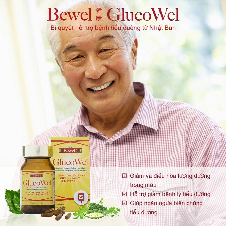 Bewel Glucowel hỗ trợ bệnh tiểu đường