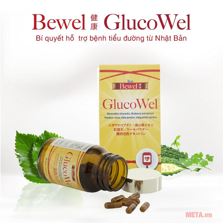 Viên uống hỗ trợ điều trị tiểu đường Bewel Glucowel