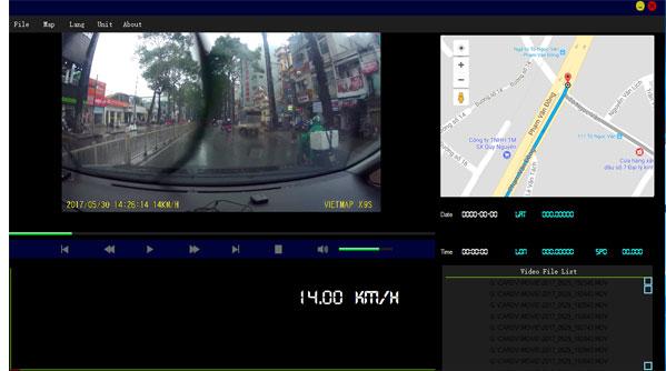 Camera Vietmap X9S hỗ trợ quan sát hành trình, dẫn đường
