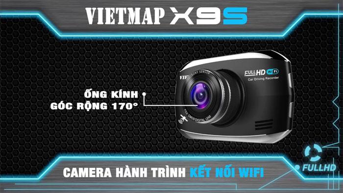 Camera Vietmap X9S có ống kính góc rộng 170 độ, hỗ trợ kết nối mạng không dây wifi