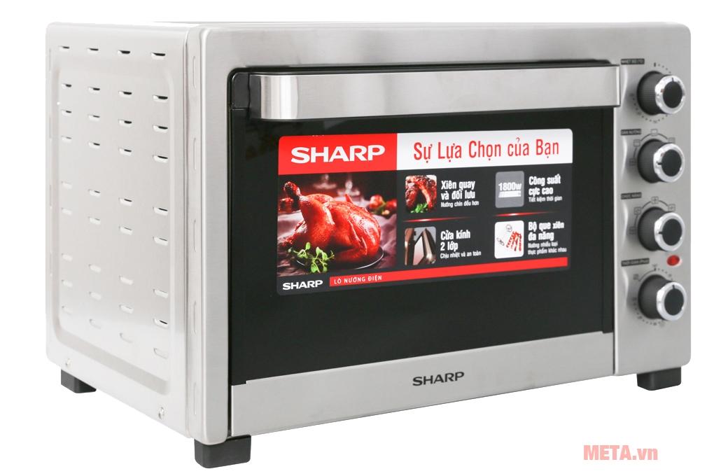 Lò hoạt động với công suất lớn đảm bảo nhiệt độ cho thực phẩm được chín ngon và đều