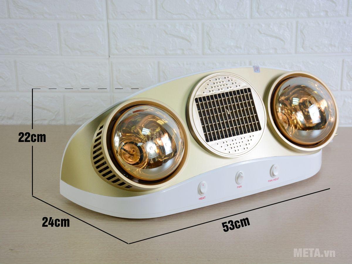Đèn sưởi nhà tắm Kohn Braun KU02PG 2 bóng