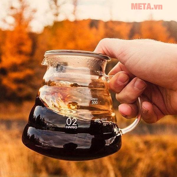 Bình đựng cà phê 600ml