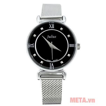 Đồng hồ nữ Julius JA-728 mặt đen